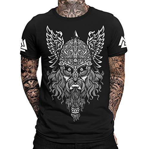 Odin Runen Valknut T-Shirt   Thor   Vikings Tshirt   Ragnar   Valhalla Rising   Walhalla   Wodan   Wikinger   Herren Männer T-Shirt
