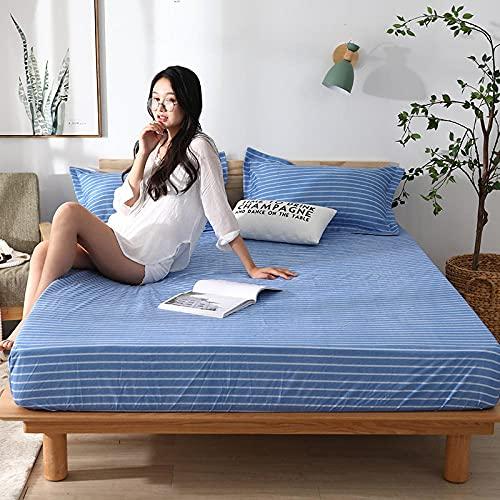 CYYyang colchón Acolchado, antialérgico antiácaros, Sábana Impermeable de un Solo Producto hotel-15_200cm × 220cm