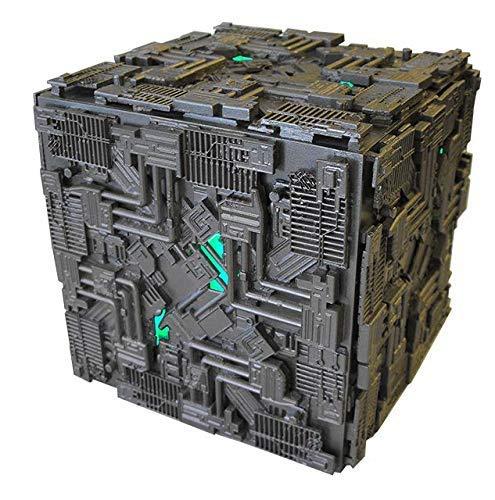 Enterprise Star Trek Cube Borg Raumschiff mit LICHT LED16cm Modell DieCast EAGLEMOSS