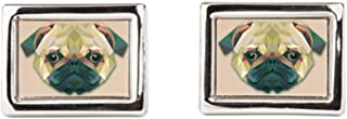 Royal Lion Cufflinks (Rectangular) Triangle Pug Dog