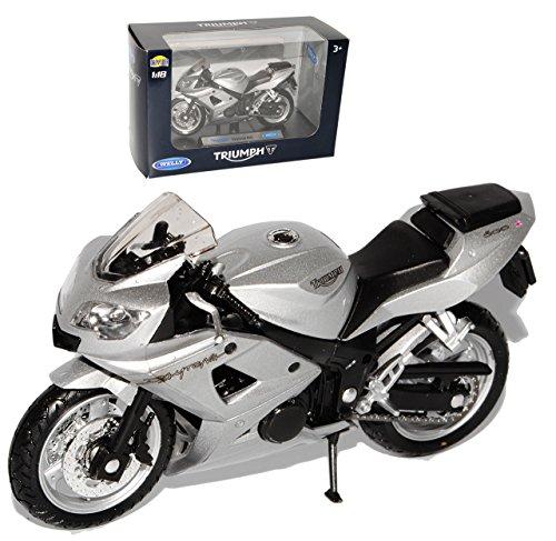 Triumph Daytona 600 Silber 1/18 Welly Modellmotorrad Modell Motorrad