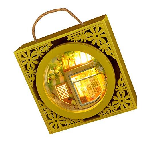 Augneveres DIY Gartenhaus Bastelsets Kreative Puppenhausmöbel Zubehör Miniatur Architektur Für Kinder Hanksgiving, Weihnachten, Geburtstagsgeschenke