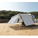 RV Awning Privacy Sun Shade Screen Complete Kits with UV Block (Grey, Right Side Wall)