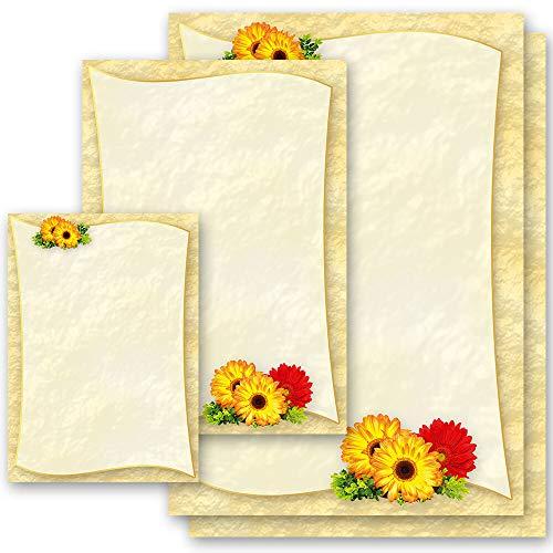 Motivpapier GERBERA Blumen & Blüten Blumenmotiv - DIN A4 Format 100 Blatt - Paper-Media