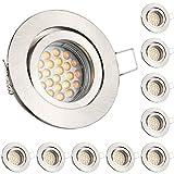 10er LED GU10 Markenstrahler von LEDANDO - 5W - schwenkbar - warmweiss