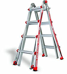 Little Gaint 15 Feet Adjustable Ladder For Cleaning Gutter