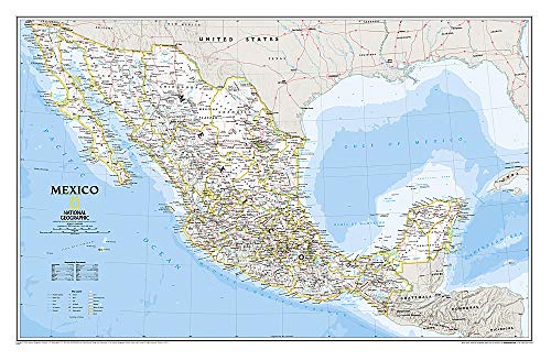 Mexico, laminiert: Wall Maps Countries & Regions (National Geographic Reference Map)