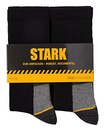 STARK Calcetines de trabajo para hombre, transpirables, resistentes, largos, 47-50 (12 pares)