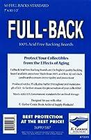 E. Gerber Full Back Boards - Standard - 50ct Pack [並行輸入品]