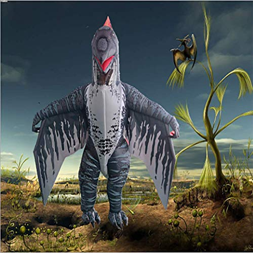 XBSXP Disfraz Dinosaurio Inflable pterodctilo, Disfraz de Dinosaurio para Adultos Disfraces hinchables Disfraces Cosplay pterodctilo para Navidad Halloween