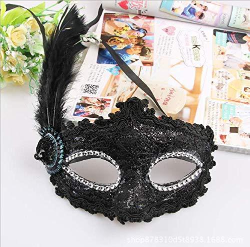 Lace Lado Flor Pintada Máscara Maquillaje Media Cara Máscara Halloween Encaje Máscara Decorativa Fiesta Máscara De Fiesta A (comprar uno obtener uno gratis)