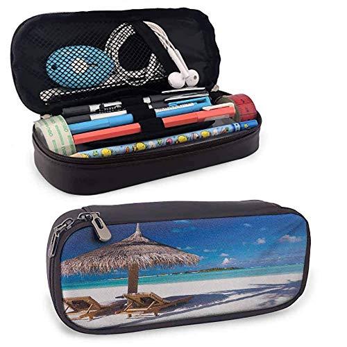 Landschaft Hochleistungs-PU-Leder-Federmäppchen, für Stift, Bleistift, Huawei, Stiftzubehör, USB-Kabel, Kopfhörer, Fo
