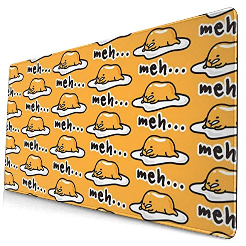 Gudetama Cute Gaming Mouse Pad Desk Mouse Mat Large Size 15.8x29.5 x0.12inches Computer Keyboard Mousepad for Gaming and Office Home