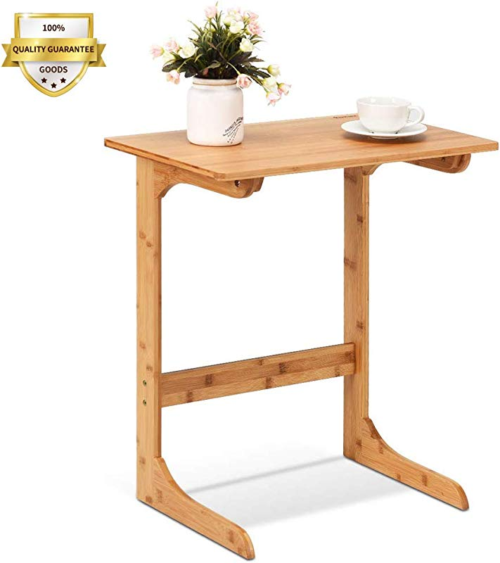 Wood Sofa Side Tables For Couch TV Trays End Table Bed Side Table For Laptop Snack Tables For Living Room Bedroom