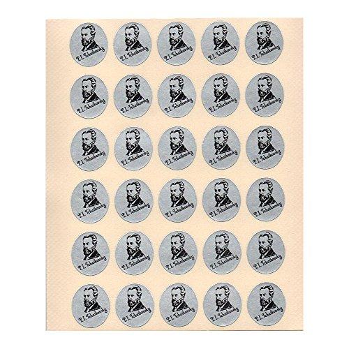 作曲家レッスンシール「チャイコフスキー」(30枚×10シートセット) 出席シール ピアノ教室 音楽教室