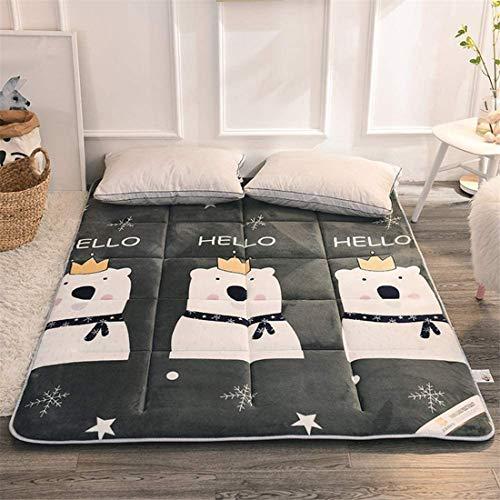 Colchón plegable futón japonés para el suelo, colchón de futón, 3-5 cm espesar tatami estera colchón plegable enrollable para niños niñas Dormitorio colchón cojín cama cama sofá cama y sofás, 120