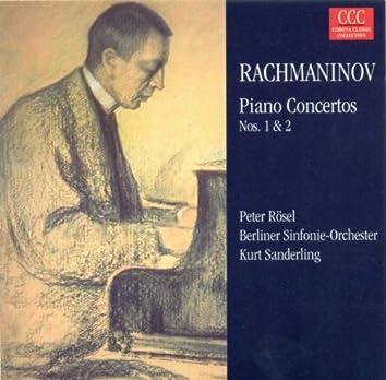 Rachmaninoff: Piano Concertos Nos. 1 and 2 (Rosel, Berlin Symphony, K. Sanderling)
