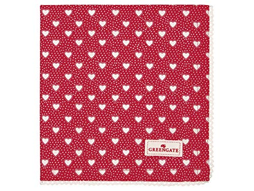 GreenGate COTNAPWLPNY1008 Penny Napkin with lace red 40 x 40 cm (1 Stück)