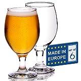 Set di 6 bicchieri da birra artigianali, stile belga, tulipani classici, bicchieri da degustazione IPA