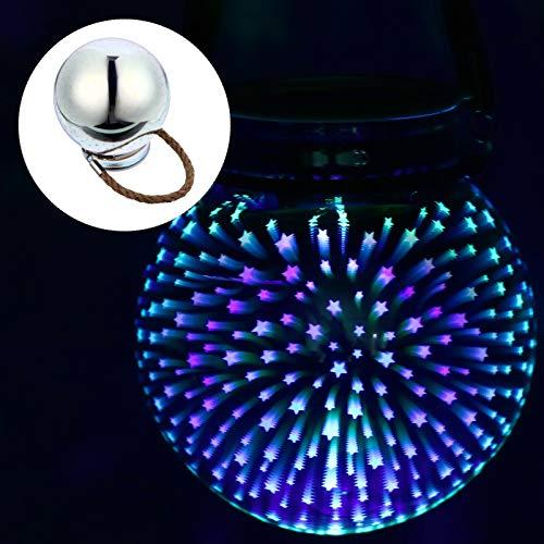 OSALADI Mesa Solar 3D Luces Decoración Exterior Bola Colgante Que Cambia de Color LED Luces de Noche para Patio de Fiesta Estrellado