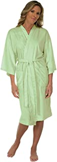 Canyon Rose Cloud 9 Women's Plush Microfiber Knee Length Robe, Sage