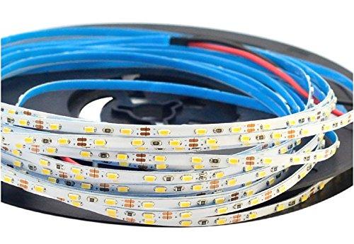SuperlightingLED Super Narrow 0.12in Width 3mm of Flexible LED Strip Lights - DC12V - 3014SMDs 27LEDs/Ft - 50Watt 16.4Ft Per Roll,Daylight White 6000K