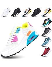 Scarpe Ginnastica Donna Sneakers Uomo Corsa Running Respirabile Mesh Casual All'Aperto Sportive Allacciare Calzature Basse Nero Blu Grigio Rosa Bianco EU36-EU47