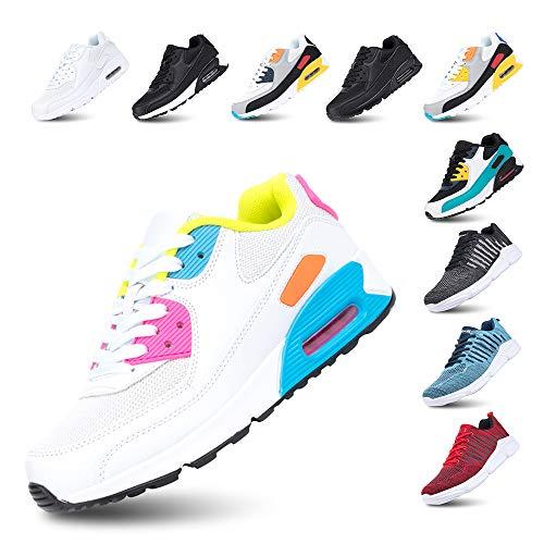 Scarpe Running Uomo Donna Ginnastica Sneaker Leggere Traspirante Outdoor Sportive Calzature da Corsa Pallavolo Tennis Rosa 39