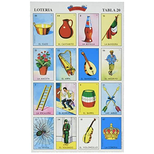 Autentica LOTERIA Mexican Bingo Set 20 Tablets Colorful and Educational! by Natorytian