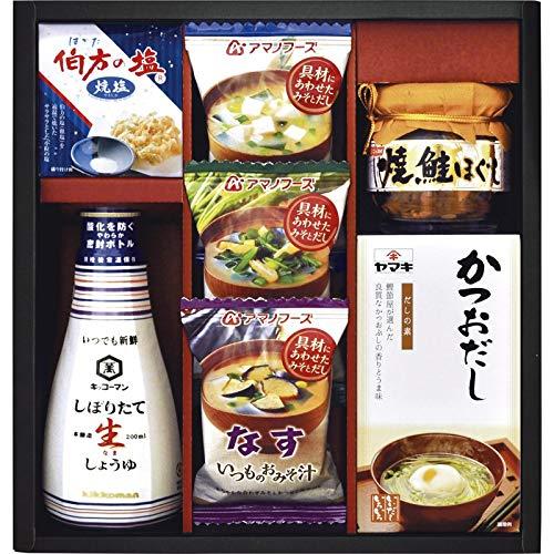 キッコーマン&アマノフーズバラエティセット EF-25 【インスタントスープ 出汁 醤油 料理 調理 調味料 ちょうみりょう ギフトセット 詰め合わせ つめあわせ お取り寄せ グルメ】
