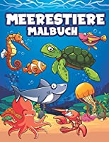 Meerestiere malbuch: malbuch fuer Kinder. Jungen und Maedchen., Krake , Wal, Seepferdchen, Hai, Fisch, Delfin... zum Ausmalen