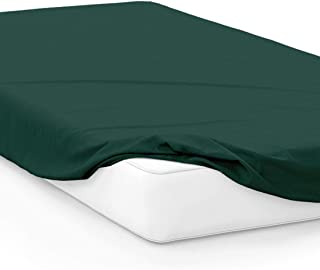 American Pillowcase College Dorm Twin XL Bed Fitted Mattress Sheet Ultra Soft Hypoallergenic Wrinkle-Free, Stain, and Fade Resistant - Green 3435
