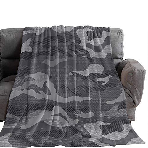 Manta Para Blanket Woodland Camo Army Rejilla de camuflaje, gris oscuro Mantas Para 125X100CM