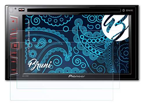 Bruni Schutzfolie kompatibel mit Pioneer AVH-270BT / X2700BT Folie, glasklare Bildschirmschutzfolie (2X)