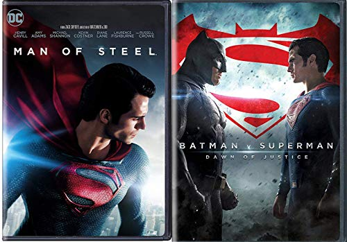 Mighty DC Steel Man + Batman V Superman DVD Movie Double Feature heroes series Dawn of Justice