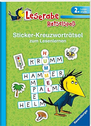 Sticker-Kreuzworträtsel zum Lesenlernen (2. Lesestufe), grün (Leserabe - Rätselspaß)