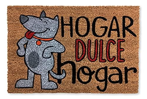 KOKO DOORMATS felpudos Entrada casa Originales, Fibra de Coco y PVC, Felpudo Exterior Perro HOGAR Dulce HOGAR, 40x60x1.5 cm |...