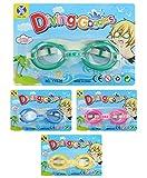 wuselwelt 5300, Schwimmbrille 1 Stück, Taucherbrille, Mit stufenlos verstellbarem Gummiband für...