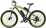 Bicicletas Eléctricas, Bicicleta eléctrica de gran alcance 1000W aleación de aluminio de los hombres con la batería de litio 16A y pantalla LCD de 7 velocidades eléctrico de bicicletas de montaña prof