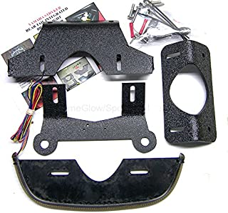 Yamaha Stryker (2011-2014) Fender Eliminator Integrated LED Taillight Kit with Tag Light and Bracket - Brake and Turn Signals - Clear Lens