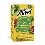 Nature's Way Alive! Calcium Bone Formula Supplement (1300 mg per serving), 120 Tablets