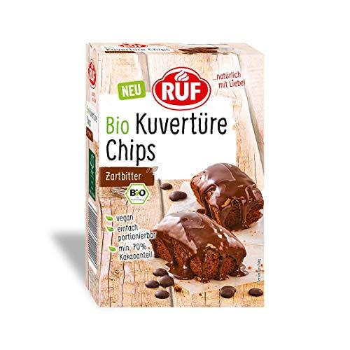 RUF Bio Kuvertüre Chips Zartbitter, mind. 70% Kakaogehalt, vegan, glutenfrei, 150 g