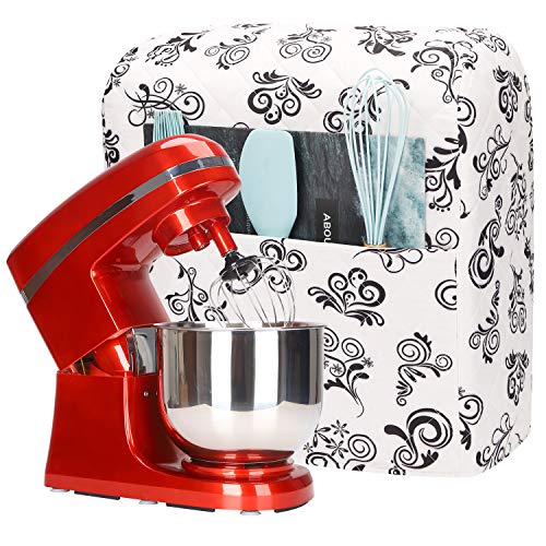 Kitchen Aid Mixer Cover,5-8 Quart Mixer Dust Cover for Kitchenaid Hamilton Sunbeam Mixers,Small Appliances Cover with Pockets,Mixer Covers Compatible with All Tilt Head & Bowl Lift Models