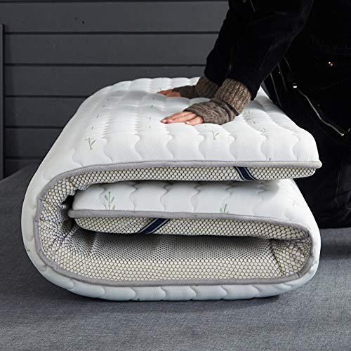 lovehouse Materasso Pieghevole da Pavimento per Dormire, in Lattice Tailandese, per Materasso futon Tradizionale Giapponese, Tatami, Bianco, 150x200cm(59x79inch)