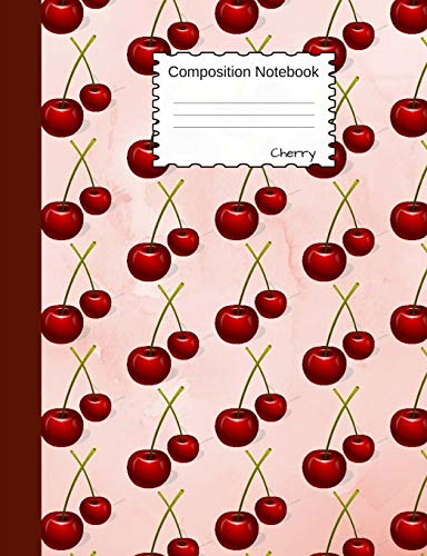 Cherry Composition Notebook: Half College Ruled, Half Blank...