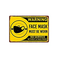 HOMDO Warning 看板ブリキ 公共の場所 メタルプレート レトロスズ塗装パブリック 警告サインフレームレス吊り下げ塗装 20 * 30cm