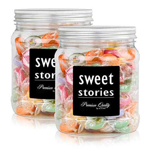 Sweet Stories Rocks Bonbons Bunter Mix in einer Retrodose 370g (2er Pack)
