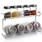 SHENGYUAN 9er Pack Spice Rack Küchenständer für Gewürzdosen, Klebendes Küchenregal, Gewürz-...