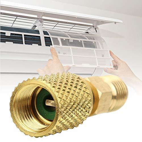 Niiyen Adaptador R410a, A/c 1/4 Pulgadas Macho a Adaptador SAE Hembra de 5/16 Pulgadas, Adecuado para Aire Acondicionado R410a Mini Split System, Aire Acondicionado(Hose Pump Coupler)