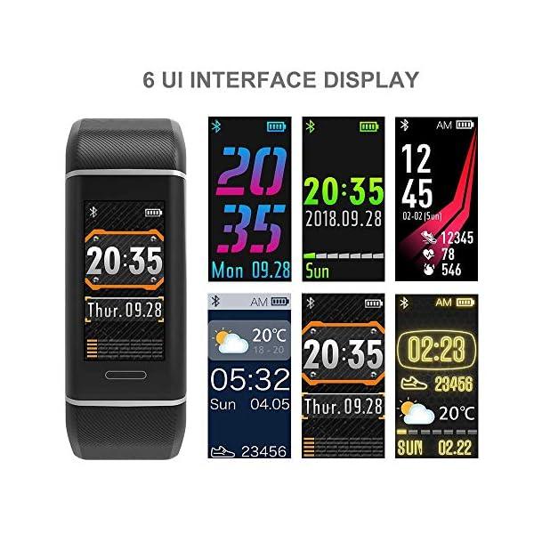 YOUNGDO Pulsera Actividad GPS, 24 modos deportivos Monitor pantalla en color monitor de ritmo cardíaco, GPS incorporado… 6